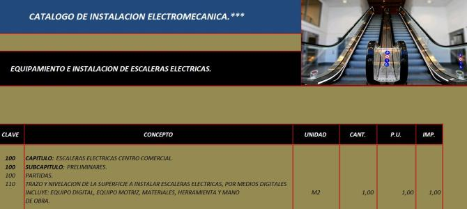 Electrical installations ladder catalog