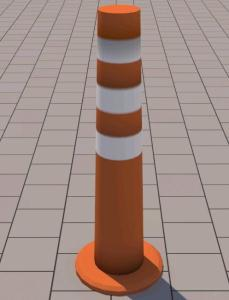 Safety cone 3d