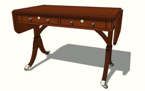 English sofa table