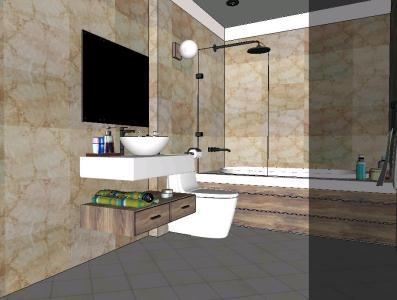 Bathroom in 3d sketchup