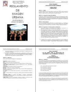 Reglamento de Imagen Urbana Municipio Valle de Bravo; Mexico