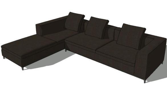 Sofa Sketchup In Skp Cad Download 4 38 Mb Bibliocad