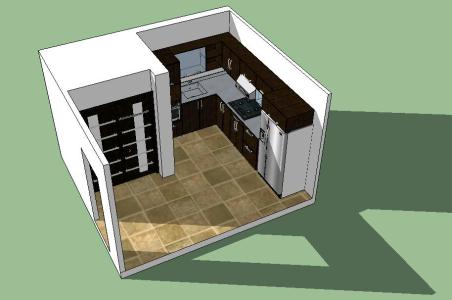 Kitchen design in Sketchup