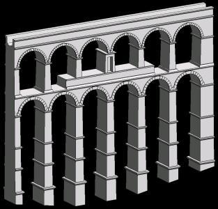 Roman aqueduct of Segovia - practice phase