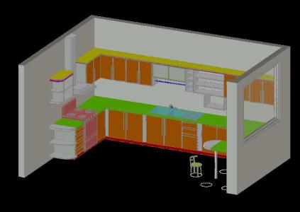 Kitchen in 3d