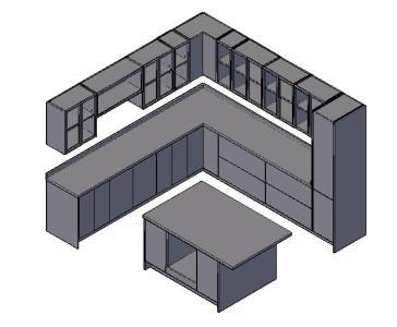 Muebles de cocina 3d en AutoCAD | Descargar CAD gratis (5.74 MB ...