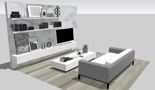 Modern room in 3d