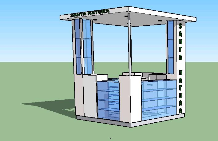 Exhibition Stand Revit : Stand d in skp cad download mb bibliocad