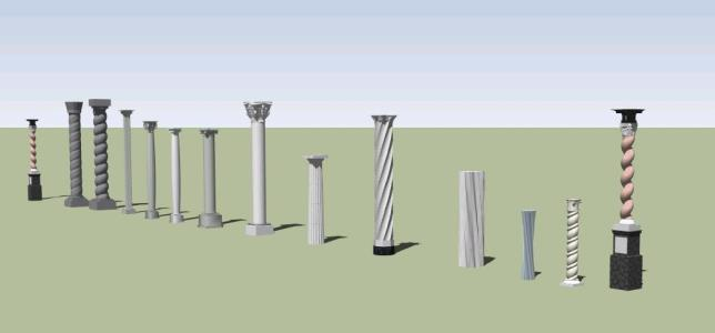 Different types of columns