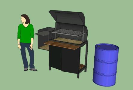 Grill in 3d