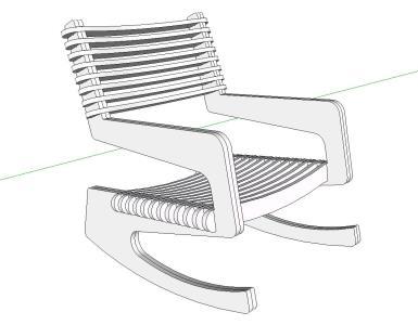 3d chair in SKP | CAD download (257 59 KB) | Bibliocad