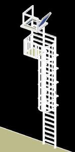 MARINE LADDER 3D - 2D