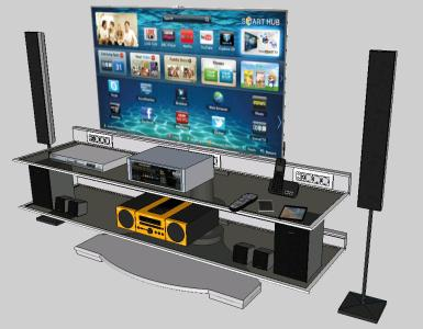 3d television room