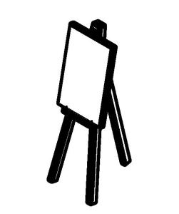 3D painting easel