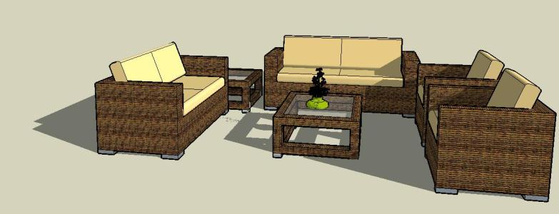Pin It SketchUp 3D Living Room