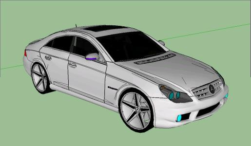 Carro Mercedez 3D