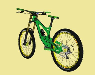 BIKE DOWNHILL GREEN