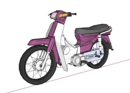 Motocicleta suzuki FR 80