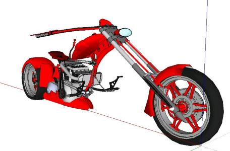 Motorcycle Chopper SuperTurbo