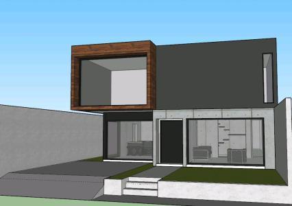 Casa habitacion moderna minimalista en skp cad 2 mb for Casa habitacion minimalista