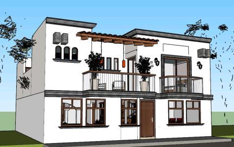 3d model duplex house