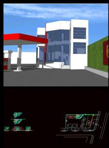 Building in gas station