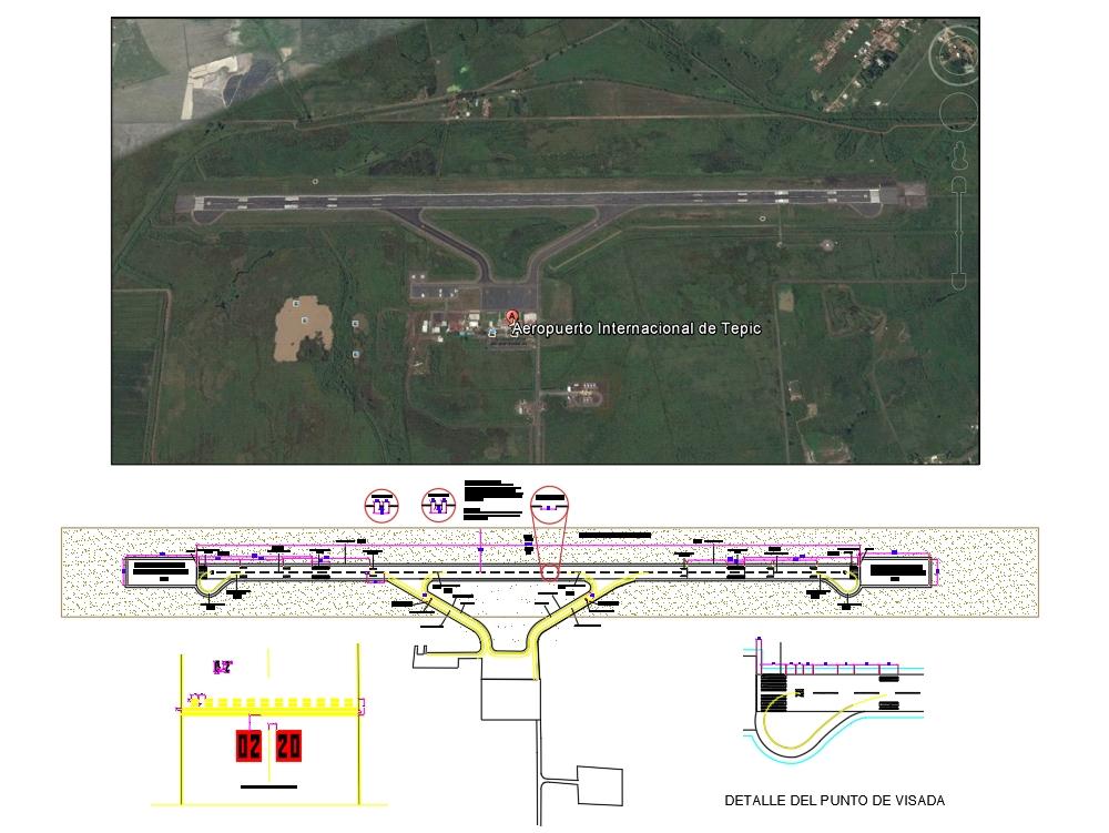 Tepic airport runway plan