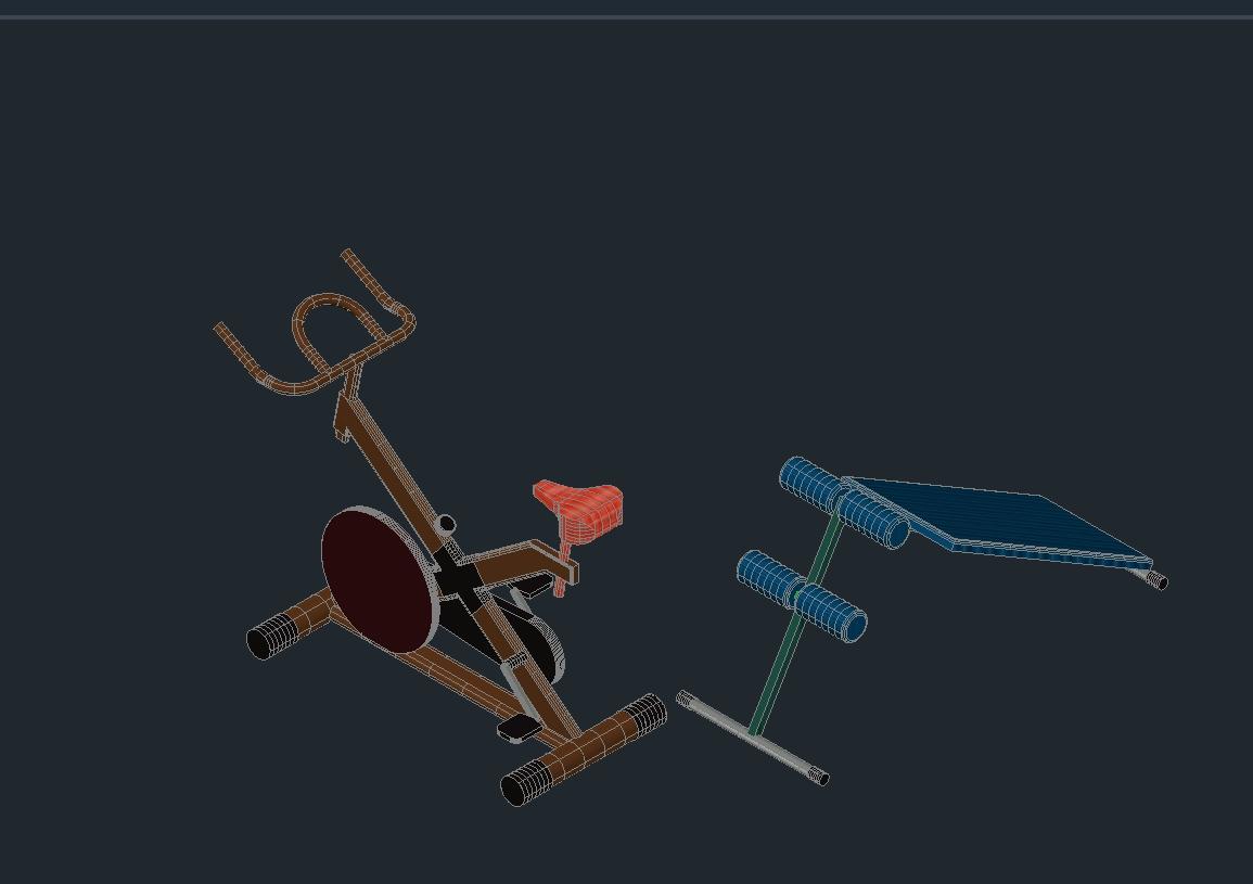 Equipamiento de gimnasio en pat descargar cad kb bibliocad - Equipamiento de gimnasios ...