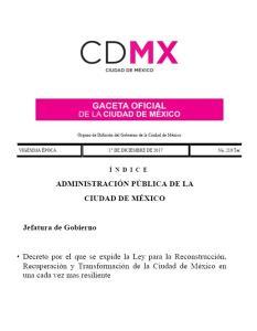Ley de Reconstrucción 2017 -  México.