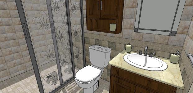 3d Bathroom In Skp Cad Download 4 31 Mb Bibliocad