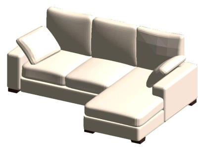 MODERN SOFA RFA - REVIT
