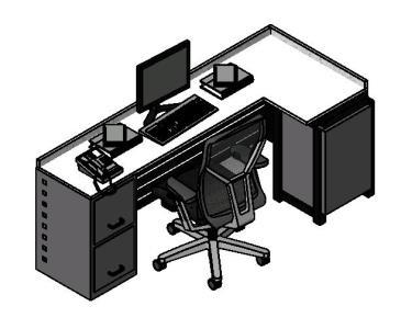 Mobiliarios para oficina 3d