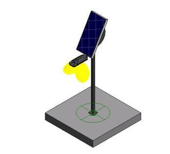Solar light post