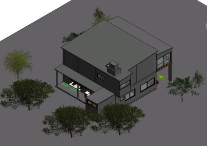 Revit 3d bungalow in RVT | CAD download (15 87 MB) | Bibliocad