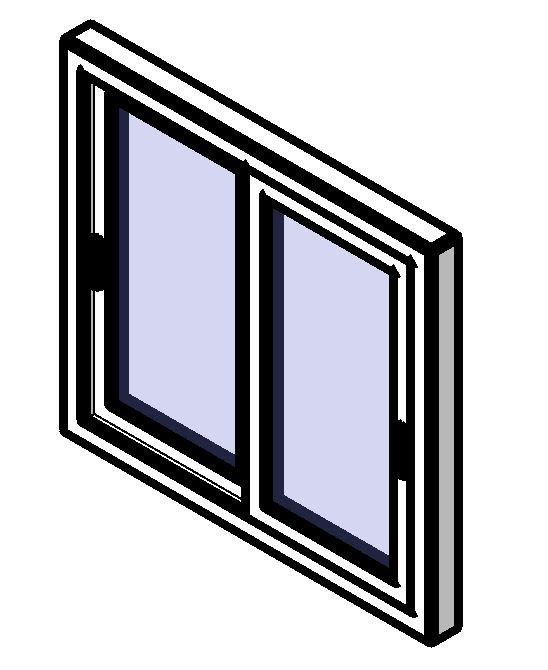 Sliding window 1.00 m. width