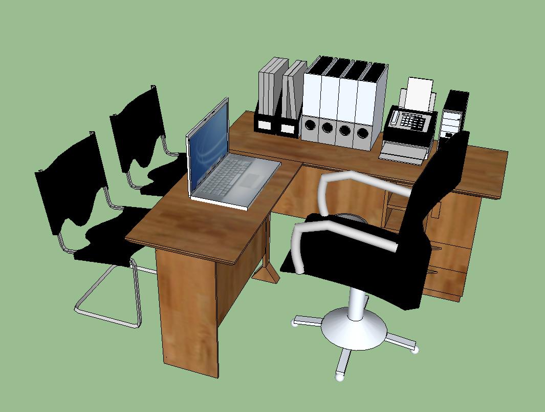 Office Furniture In Skp Cad Download 117645 Bibliocad