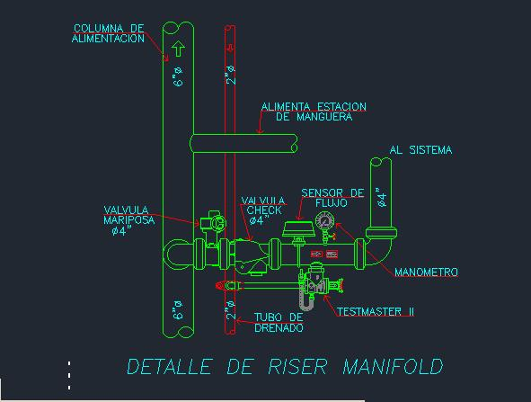 Riser Manifold Autocad In Autocad Cad Download 34 1