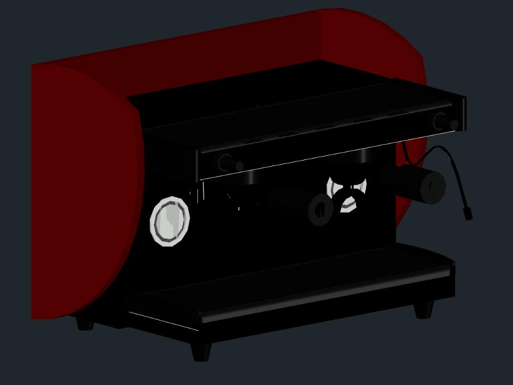 Maquina cafe espress Autocad