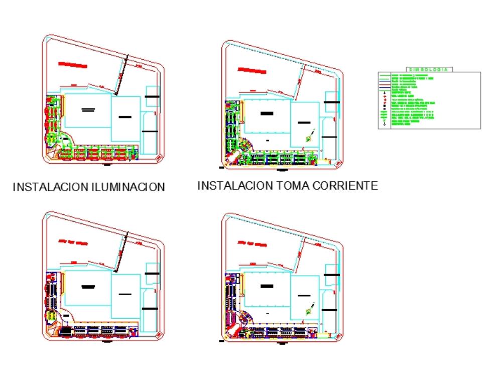 Electrical installation of school in AutoCAD   CAD (4 MB)   Bibliocad