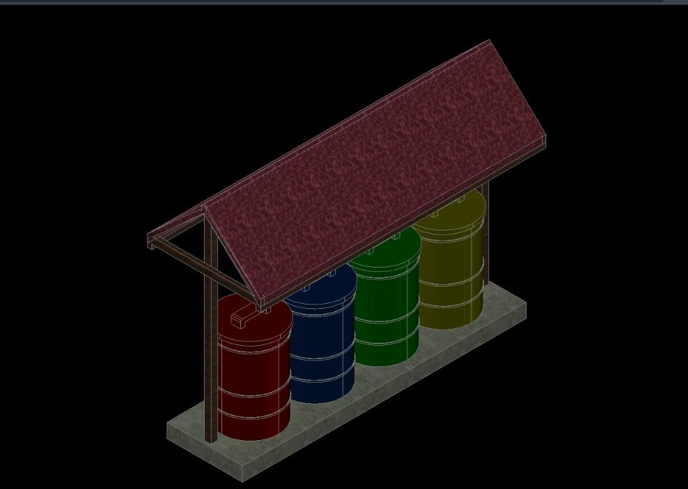 Storage station - handling of waste