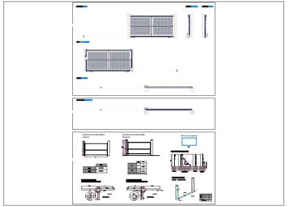 Porton with rolling; autocad