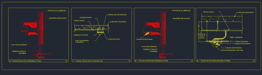 Closed circuit television camera - autocad