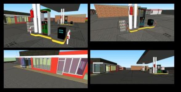 Service station in sketchup