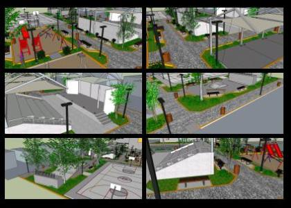 Autocad urban park