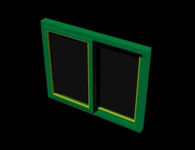 Window of 100 cm by 120 cm - autocad