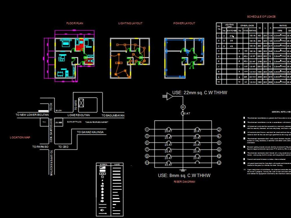 Electrical Floor Plan And Light Layout 107 93 Kb Bibliocad