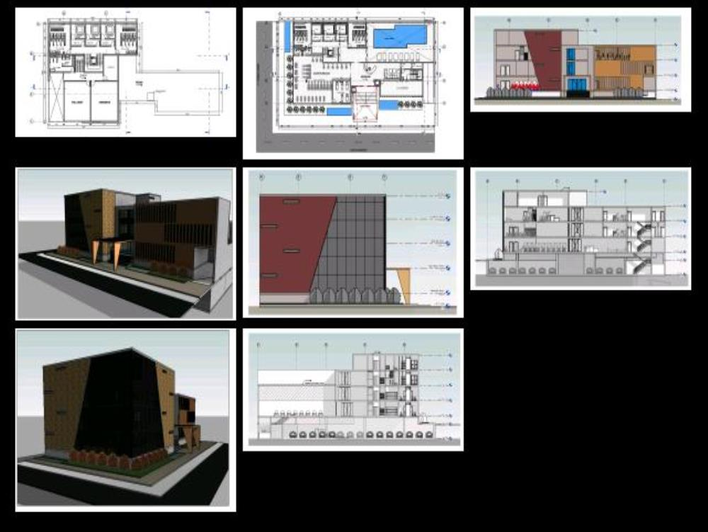 Architectural Project Spa Revit In Rvt Cad 192 85 Mb