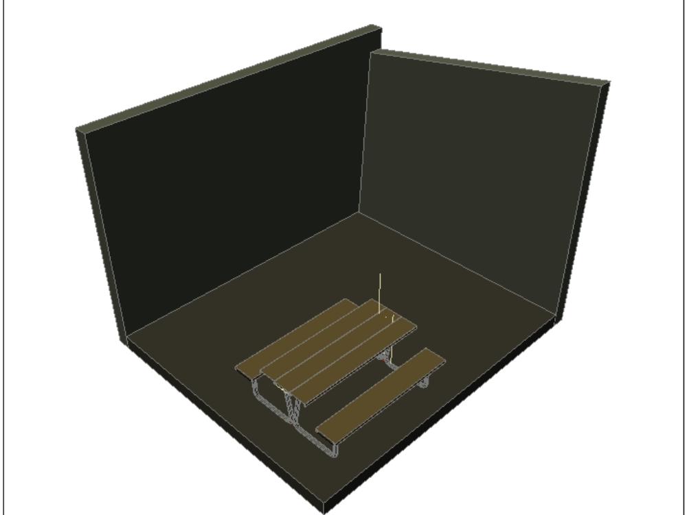 Mesa de picnic sencilla y moderna para la familia.