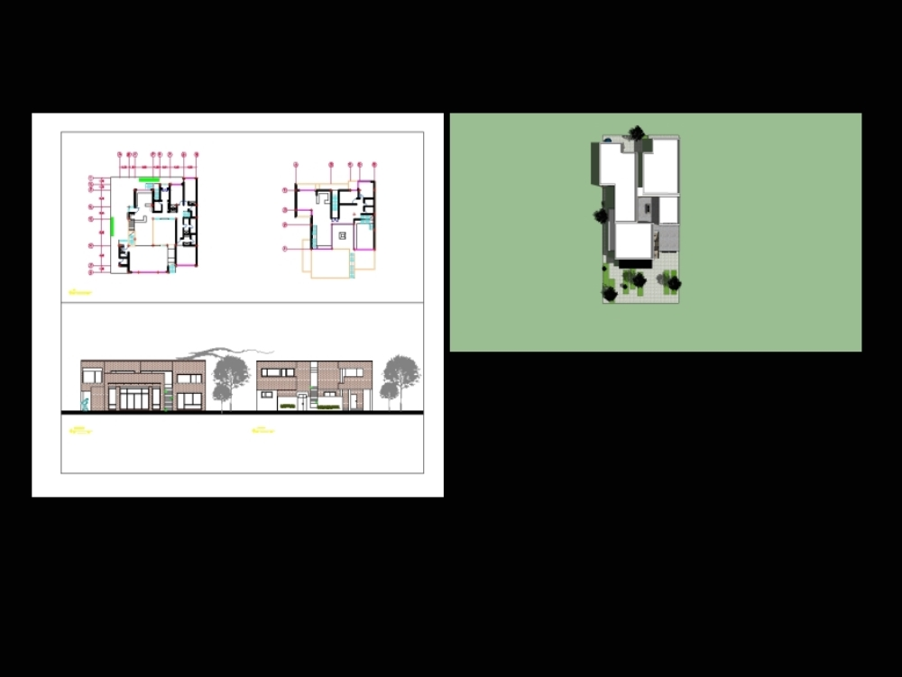 House in top view 2 (sketchtp; autocad)