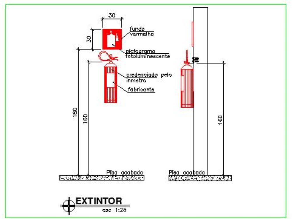 Fire Extinguisher Autocad In Autocad Cad 109 72 Kb